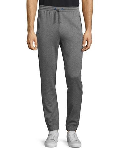 Boss Green Textured Trim Jogger Pants-GREY-Large 88823078_GREY_Large
