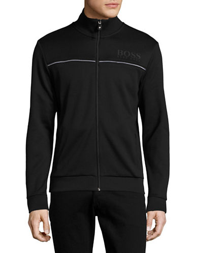 Boss Green Piped Track Jacket-BLACK-Large 88823074_BLACK_Large
