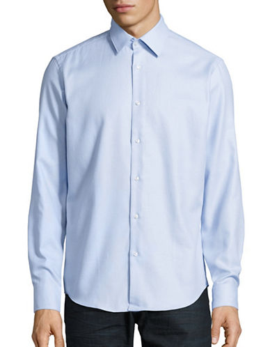 Hugo Enzo Regular Fit Sports Shirt-LIGHT BLUE-EU 38/US 15