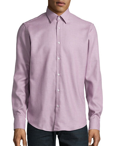 Hugo Enzo Regular Fit Sports Shirt-MEDIUM PURPLE-EU 42/US 16.5