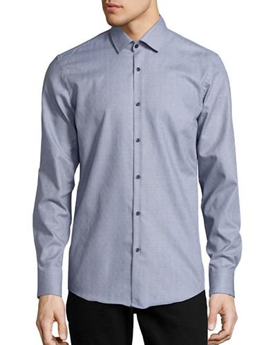 Hugo C-Jenno Slim-Fit Sport Shirt-NAVY-EU 43/US 17