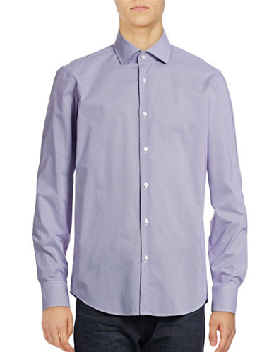 Hugo C-Gordon Chevron Sport Shirt-MEDIUM PURPLE-EU 42/US 16.5