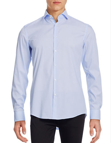 Hugo Tonal Stripe Shirt-LIGHT BLUE-EU 41/US 16