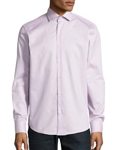 Hugo C-Gordon Striped Sport Shirt-MEDIUM PURPLE-EU 41/US 16