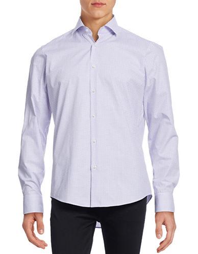 Hugo Gordon Check Sport Shirt-LIGHT PURPLE-EU 41/US 16