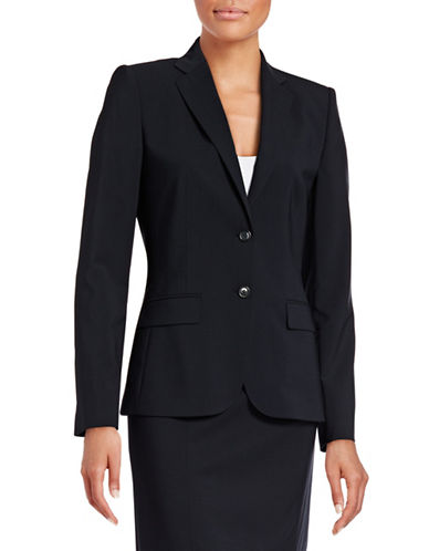 Hugo Amiesa Stretch-Wool Jacket-BLUE-EUR 36/US 4