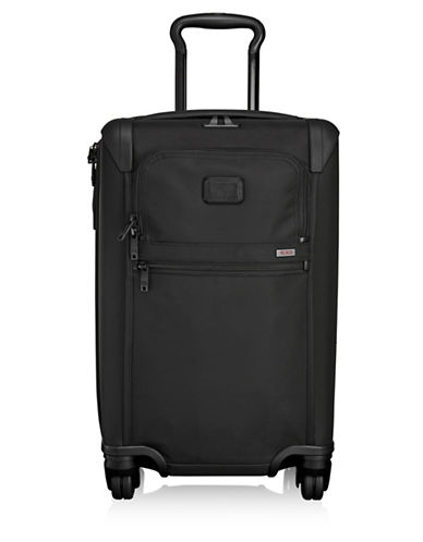 Tumi Solid International Expandable Four-Wheel Carry-On Luggage-BLACK-One Size