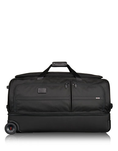Tumi Alpha 2 Large Wheeled Split Duffle Bag-BLACK-16