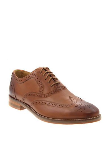 Cole Haan Cambridge Oxford Wing Tip Shoes-TAN-8
