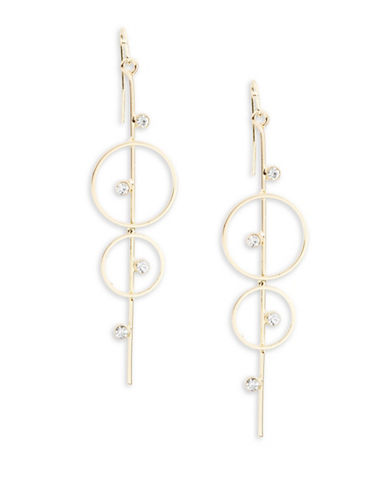 R.J. Graziano Circle and Bar Earrings-WHITE-One Size