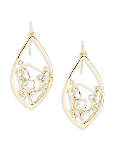 R.J. Graziano Marquis Cluster Drop Earrings-WHITE-One Size