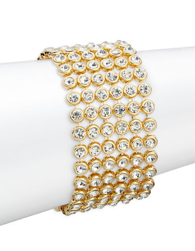 R.J. Graziano Stone Accented Bracelet-WHITE-One Size