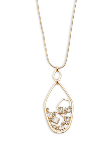 R.J. Graziano Marquis Cluster Pendant Necklace-WHITE-One Size