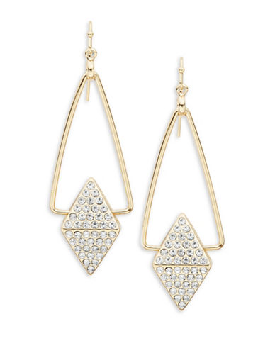 R.J. Graziano Pyramid Drop Earrings-GOLD-One Size