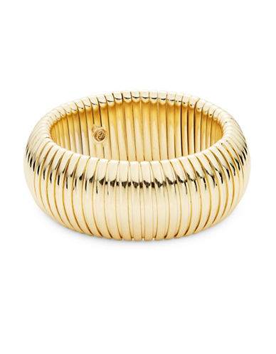 R.J. Graziano Goldtone Dome Bangle Bracelet-GOLD-One Size