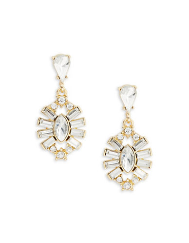 R.J. Graziano Faceted Crystal Drop Earrings-GOLD-One Size