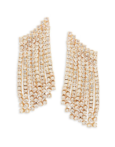 R.J. Graziano Pave Climber Earrings-GOLD-One Size