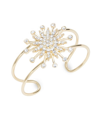 R.J. Graziano Pave Star Accented Cuff Bracelet-GOLD-One Size