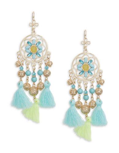 R.J. Graziano Tassel Chandelier Earrings-BLUE-One Size