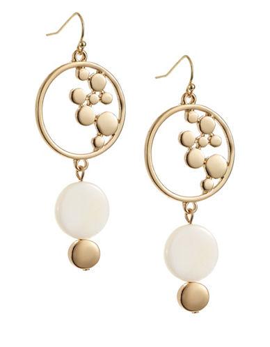 R.J. Graziano Circle Drop Earrings-GOLD-One Size