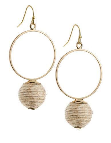 R.J. Graziano Circle Drop Wrap Earrings-GOLD-One Size