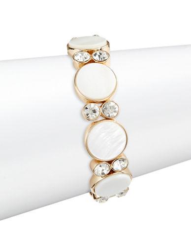 R.J. Graziano Stretch Disc Bracelet-GOLD-One Size