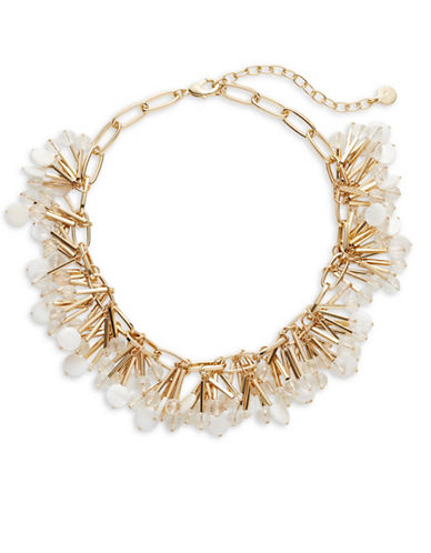 R.J. Graziano Shaky Disc and Bead Necklace-GOLD-One Size