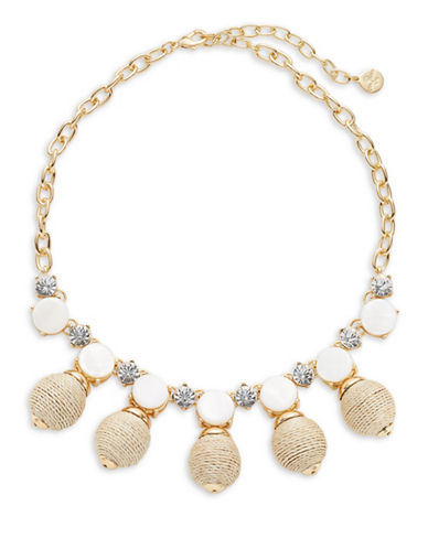 R.J. Graziano Wrap Bead and Stone Necklace-GOLD-One Size