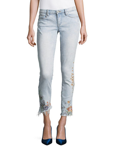 Blank Nyc Distressed Embroidered Skinny Jeans-LATE BLOOM-24