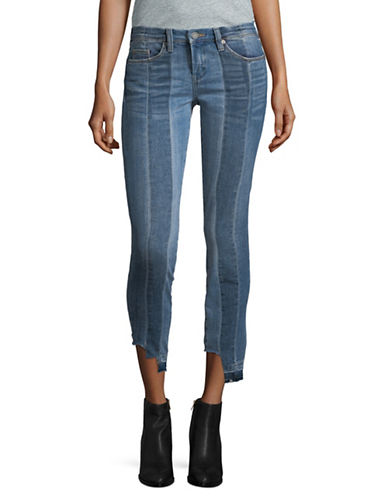 Blank Nyc Stripe Patchwork Cropped Jeans-BLUE-26