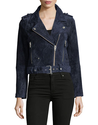 Blank Nyc Suede Moto Jacket-BLUE-X-Small 89530859_BLUE_X-Small