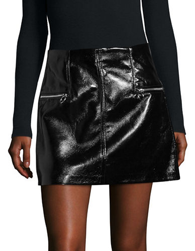 Blank Nyc Patent Mini Skirt-STEEL PANTHER-28