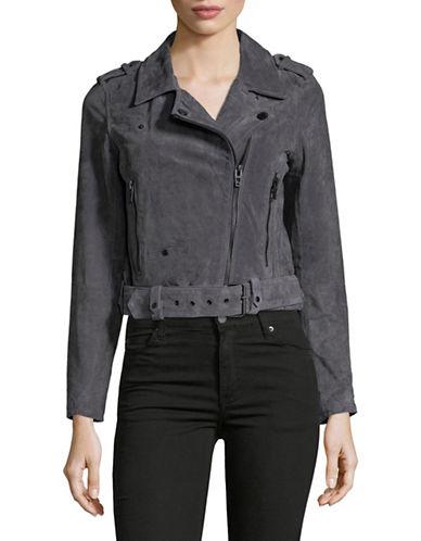 Blank Nyc Suede Moto Jacket-GREY-Large