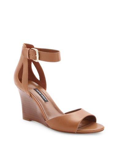 Nine West Floyd Leather Wedge Sandals 89942294