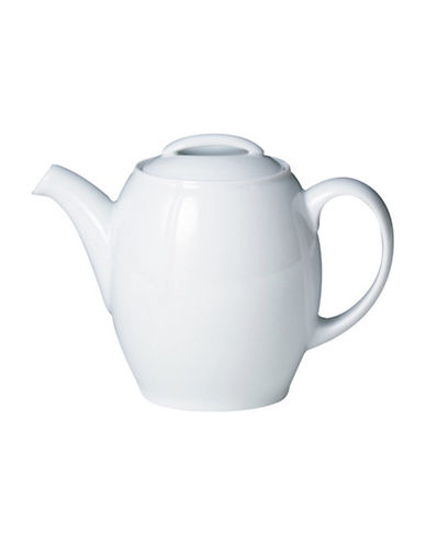 Denby White Large Teapot-WHITE-One Size