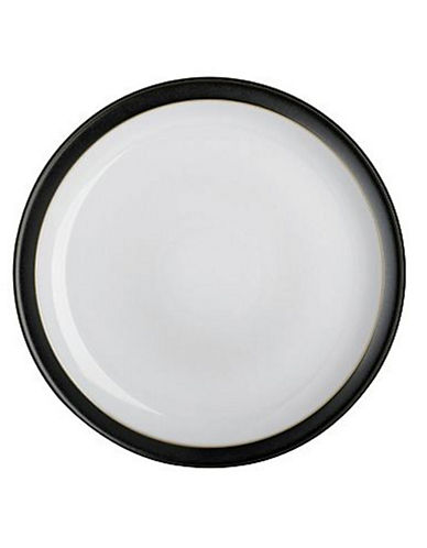 Denby Jet Black Dinner Plate-BLACK / WHITE-One Size
