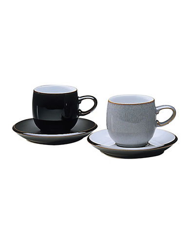 Denby Jet Tea Coffee Saucer-BLACK-One Size