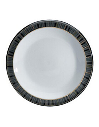 Denby Jet Stripes Bread and Butter Plate-STRIPES/WHITE-7.25 Inches