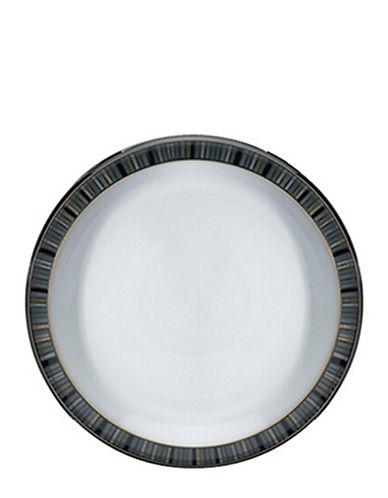 Denby Jet Stripes Dessert Salad Plate-STRIPES/WHITE-One Size