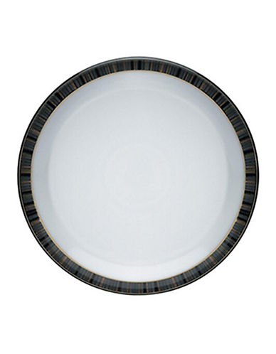 Denby Jet Stripes Dinner Plate-STRIPES/WHITE-One Size