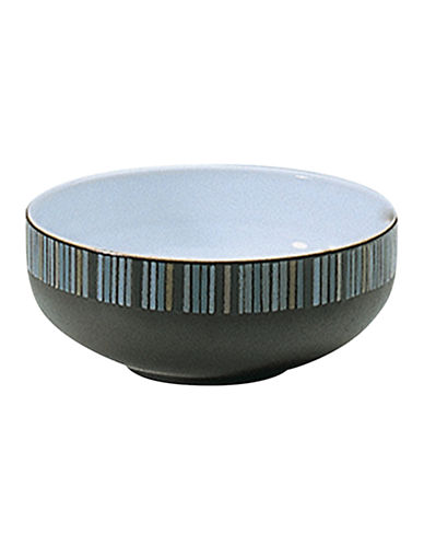 Denby Jet Stripes Soup Cereal Bowl-STRIPES/WHITE-One Size