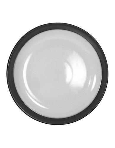 Denby Jet Dessert Salad Plate-BLACK/WHITE-One Size