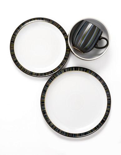 Denby 4 Piece Jet Stripes Place Setting-BLACK-One Size