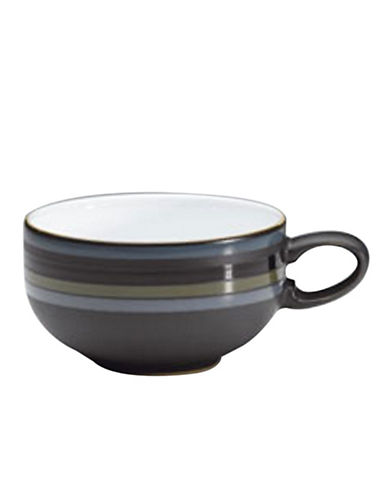 Denby Jet Stripes Tea Coffee Cup-STRIPES/WHITE-One Size