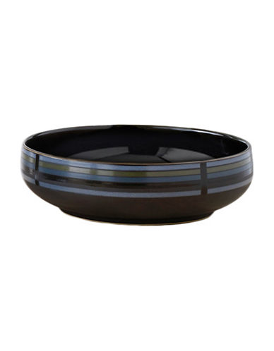 Denby Jet Stripes Serving Bowl-STRIPES/BLACK-Medium