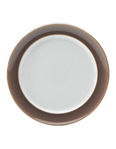 Denby Truffle Wide Rimmed Dessert Salad Plate-TRUFFLE/WHITE-One Size