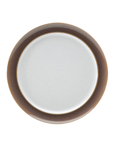 Denby Truffle Wide Rimmed Bread Butter Plate-TRUFFLE/WHITE-One Size