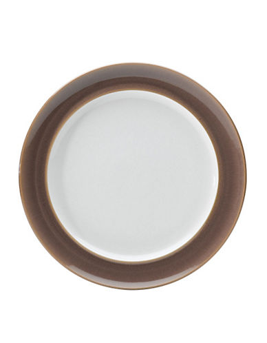 Denby Truffle Wide Rimmed Dinner Plate-TRUFFLE/WHITE-One Size