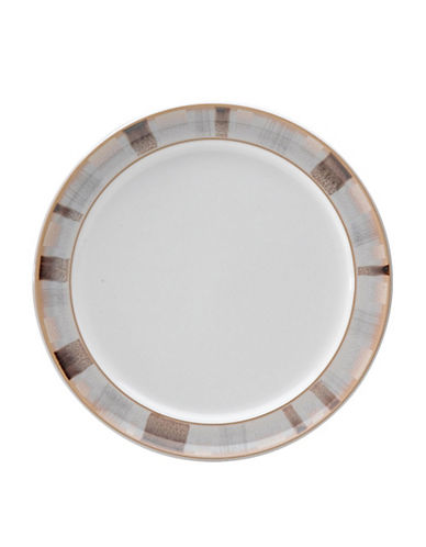 Denby Truffle Layers Wide Rimmed Bread/Butter Plate-TRUFFLE LAYERS/WHITE-8
