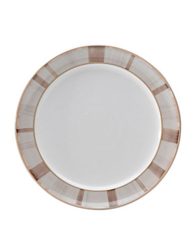 Denby Truffle Layers Wide Rimmed Dessert Salad Plate-TRUFFLE LAYERS/WHITE-One Size